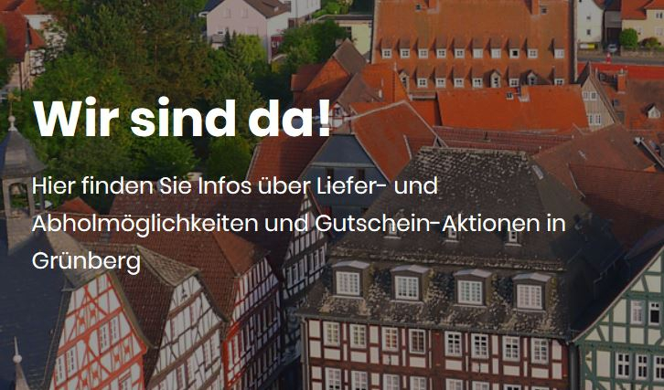 """Grünberg """"Wir sind da"""" Homepage"""