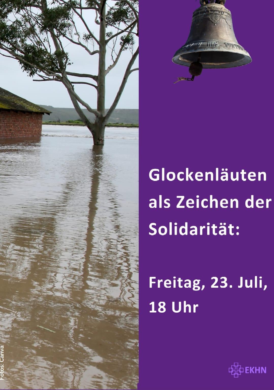 Glockengeläut am Freitag, 23. Juli 2021, 18 Uhr aus Anlass der Flutkatastrophe in Nordrhein-Westfalen und Rheinland-Pfalz