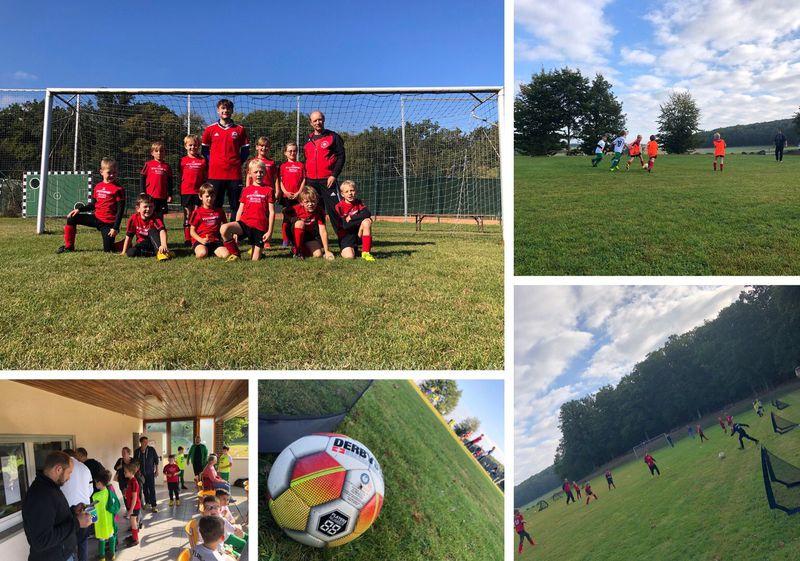 Viel Spaß am Fußball haben die Kids der F-Junioren !!!